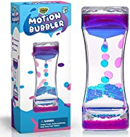 YoYa Toys Liquid Motion Bubbler for Kids and Adults | Hourglass Liquid Bubbler or Timer for Sensory Play, Fidg