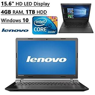 """Lenovo ideapad 100 - 15.6"""" Laptop (Intel Core i5, 4 GB RAM, 1TB HDD, Windows 10) 80QQ00JGUS"""