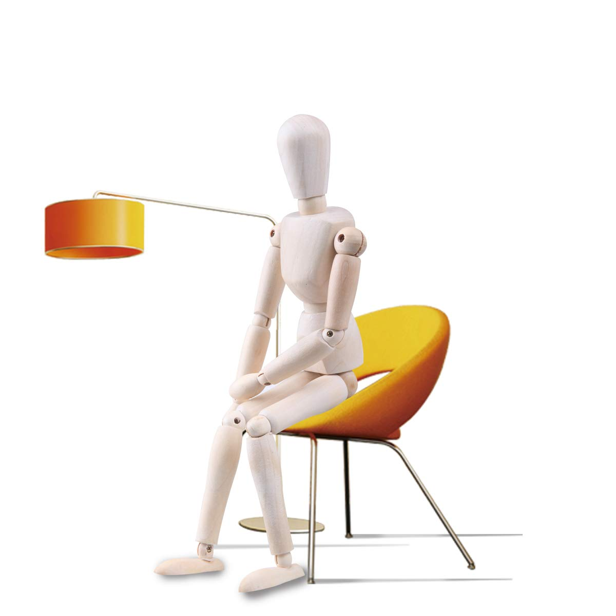 Moi Doi Wooden Mannequin, Wood Manikin with Stand, Artist Human Figure Articulated Model,Great for Drawing/Sketch or Desktop Decor,12 Inch Tall by Moi Doi