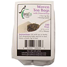 Special Tea Company Large Woven Style Draw String Empty Tea Bags, 2.75-inch X 3.5-inch, 100-pack, 100-count