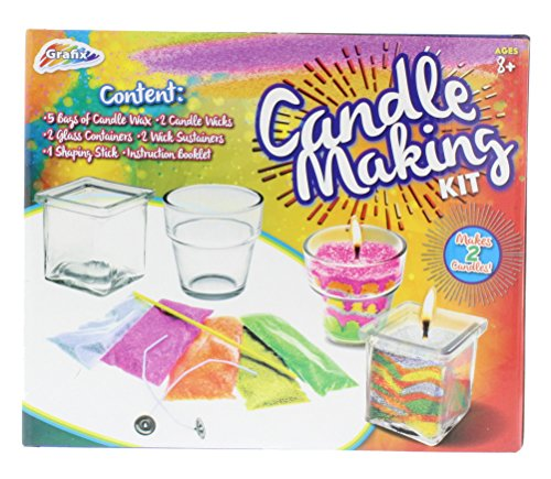 Grafix Candle Making Kit – Unique Candles with 5 Bags of Colored Wax