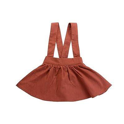 Suspender Strap Skirt Sleeveless Sundress Baby Girls Floral Dress Kids Outfits