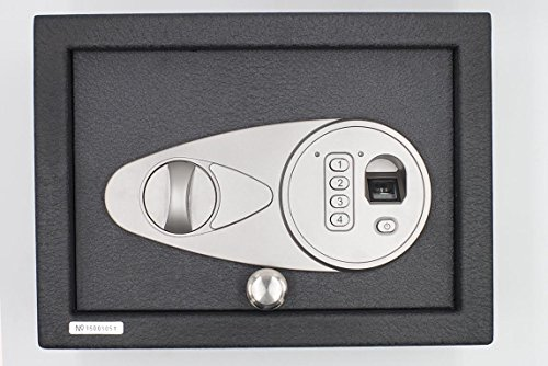 Secu Electronic Top Loading Biometric Fingerprint Digital Safe Home Security Steel 11.75 (L) x 8.75 (W)