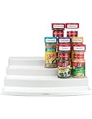 YouCopia SpiceSteps 4-Tier Kitchen Cabinet Spice Rack Organizer, 24-Bottles, White