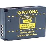 Bundlestar * Akku für Canon LP-E12 zu Canon EOS M M10 und Canon EOS 100D mit Infochip (neueste Generation 100% kompatibel!)