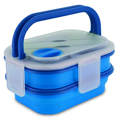 Smart Planet Double Decker Meal Kit Food Container, Blue Double Decker Food