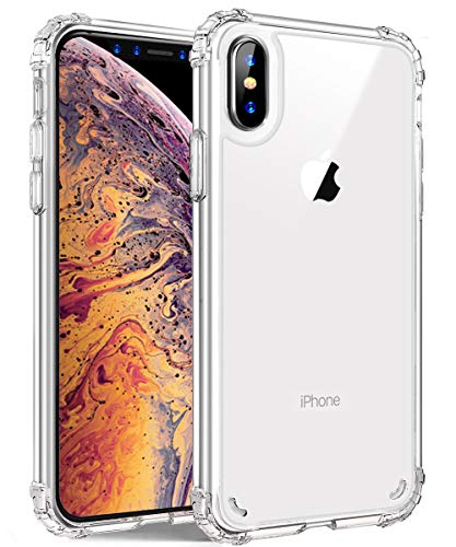 iPhone Xs Max Case, GPROVA Crystal Clear Shock-Absorption Bumper Cover, Anti-Scratch Clear Back for iPhone Xs Max/iPhone Xs Max 6.5'' (Clear)
