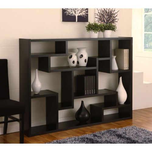 Black bookcase room divider this contemporary bookcase Where can i buy cheap living room furniture