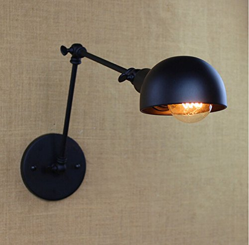 Swing-Arm Appliques Lampe murale industrielle Edison Simplicity Support mural Lumière Amérique Country Style Vintage Long Bras Lampe murale pour balcon, escalier, couloir Gooit-E