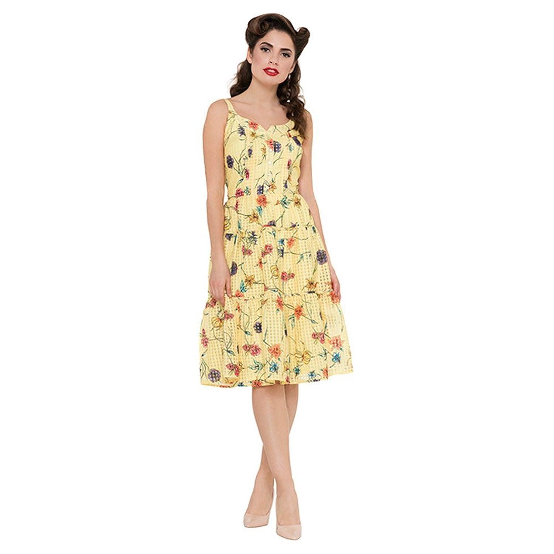 Kleid a linie gelb | Trendige Kleider für die Saison 2018