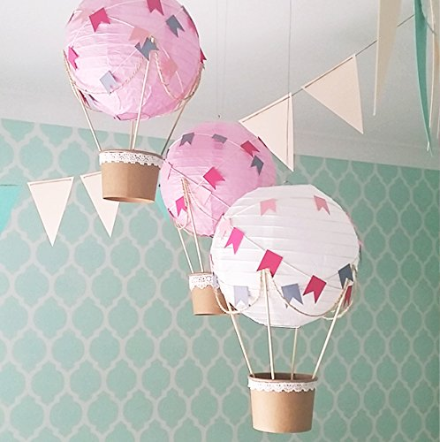 Amazoncom Whimsical Hot Air Balloon Diy Kit Nursery Decoration