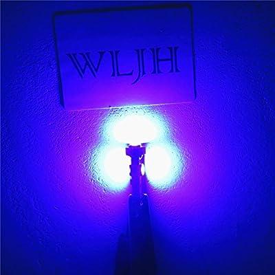 WLJH 6pcs Blue Canbus Error Free T5 37 2721 3030 Chips Instrument Panel Led Light Gauge Cluster Dash Indicator Bulbs with Twist Socket: Automotive