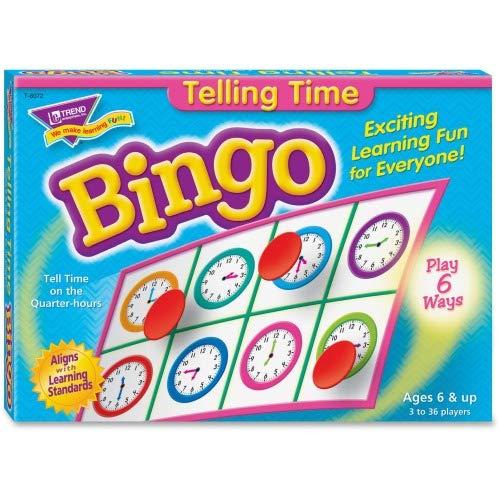 トレンドtep-6072Telling Time Bingo Game–言語