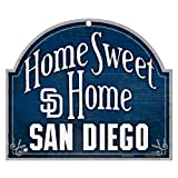 "MLB San Diego Padres 10-by-11 Inch Wood ""Home Sweet Home"" Arch Sign"