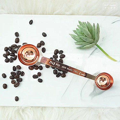 Betan 430 Stainless Steel 2 Side Coffee Scoop Spoon Measure-1&2Tablespoon Rose Gold by Betan (Image #6)