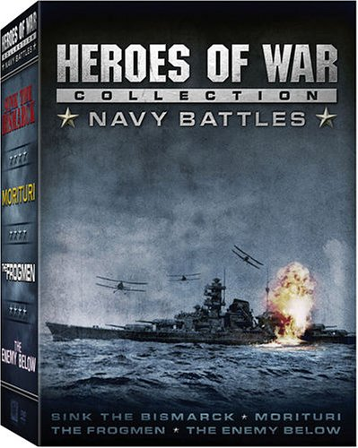 Heroes of War Collection - Navy Battles (The Enemy Below, The Frogmen, Morituri, Sink the Bismarck!) by WIDMARK,RICHARD