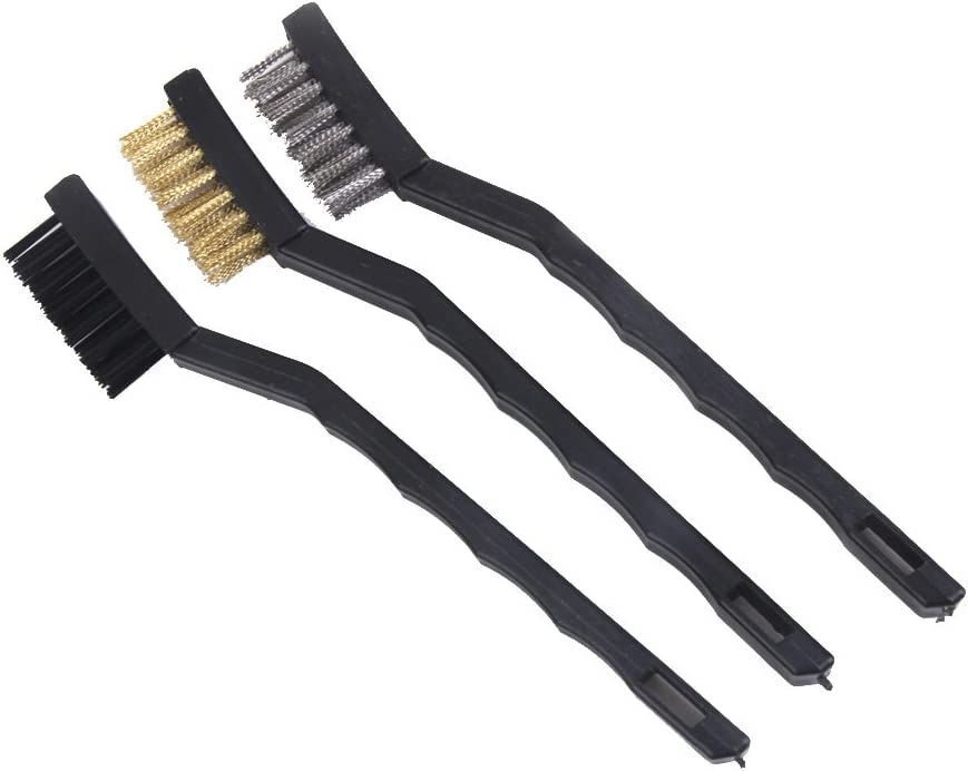 Mini-Drahtb/ürsten 3-tlg Set langlebig und praktische Drahtb/ürsten