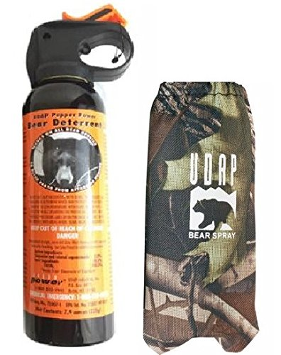 Udap Bear Spray with Camo Hip Holster by Udap