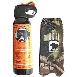 UDAP Bear Spray With Camo Hip Holster 104 Includes camouflage hip holster. Hottest Bear Spray Formula at 2% CRC Most Powerful Bear Spray Fog!