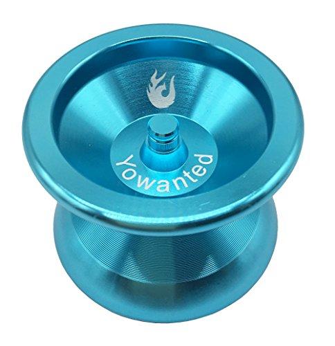 - Yowanted Blue Aluminum Alloy Metal Bearing Professional Yo-Yo Toys Unresponsive YoYo Ball- 3 Strings 1 Yo-Yo Glove
