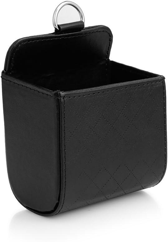 Winbang Storage Box Car Air Vent Organizer Phone Glasses Cash Card Holder Hanging Box for Phone Coins Headphones Keys Small Gadget Black