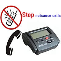 TelPal Landline Call Blocker For Landline Phones with Caller ID Display, Dual Signal FSK/DTMF, 1500 Number Capacity - Block Hidden Numbers, Telemarketer Calls, Nuisance Calls