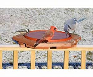 Songbird Essentials SE501 Cedar Heated Deck Bird Bath