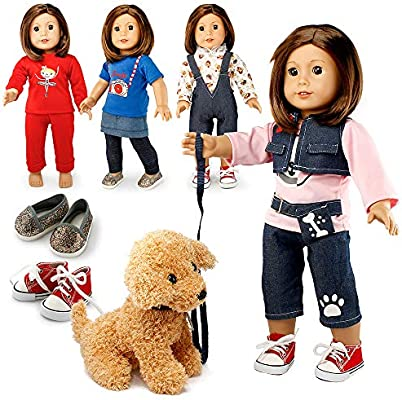 Dog Best Friends 3pc Skirt Set Fits 18 inch American Girl Dolls
