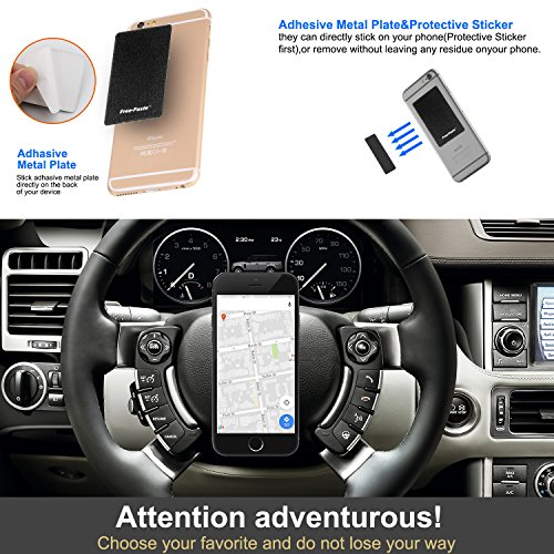 GOODNEW Cell Phone Car Mount Holder,Car Stand Stick to Any Flat Surface for iPhone,Samsung Galaxy,LG,Smartphone,iPad,and Mobile Devices (black) by GOODNEW (Image #1)