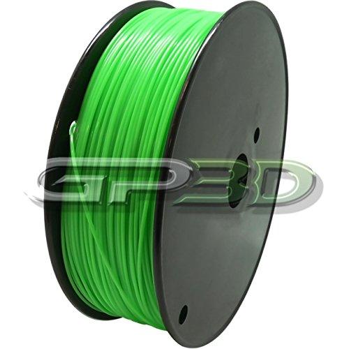 GP3D ABS Green 3D Printer Filament - 1KG 1.75mm 2.2lbs. Compatible With 3D Printers Reprap, Makerbot Replicator 2, Makergear M2 and up, Afinia, Solidoodle 2, Printrbot GP3D Supplies