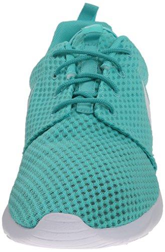 Nike Rosherun Br, Men's Gymnastics Shoes (Bianco-celeste)