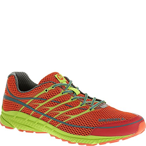 Merrell Men's Mix Master Move 2 Trail Running Shoe, Haute Red/Lime Green, 10 M US
