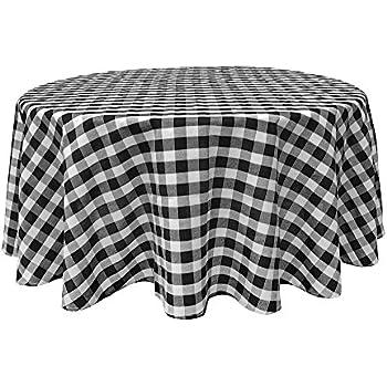 Black White Tablecloths: Gingham Checkered Design (70 Part 27