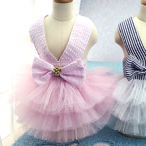STAR-TOP Dog Spring Summer Dress,Fashion Pretty Summer Sweet Puppy Dog Pet Dress Skirt Dogs Princess Dresses Pet Coat Apparel Costume