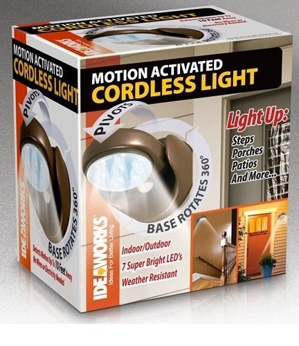 Jobar Ideaworks Weather Resistant Motion Activated Cordless Light Bronze