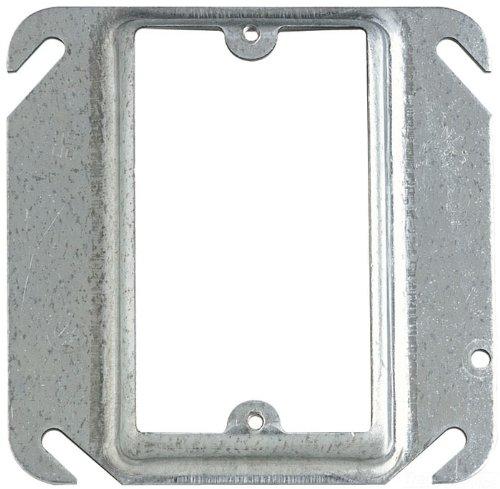 Thomas & Betts 52 C15 4インチ亜鉛メッキRaised Squareデバイスカバー、25-pack  B008R6MWMS