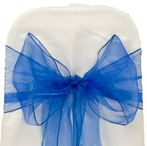 a Chair Sashes / Bows sash for Wedding or Events Banquet Decor Chair bow sash -royal blue (Royal Blue Chair)