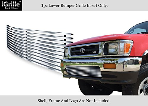 APS Fits 92-94 Toyota Pickup Truck 4WD Stainless Steel Billet Bumper Grille #T85121C ()