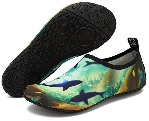 Whale Water Exercise Shoes and Socks Ocean Swim Aqua Beach adituo Pool Sports Men Women Barefoot for gZSRqZdxw