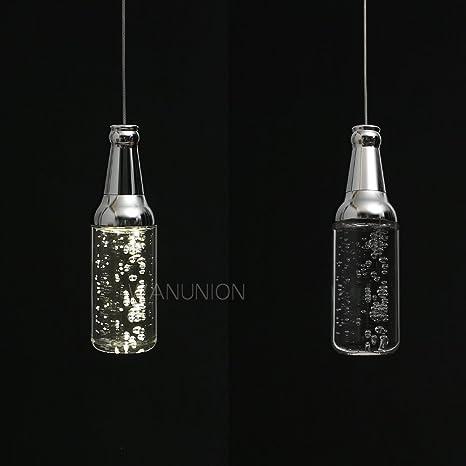 Chrasy Luces Colgantes Candelabros, lámpara de Botella de vino sala de estar dormitorio comedor de