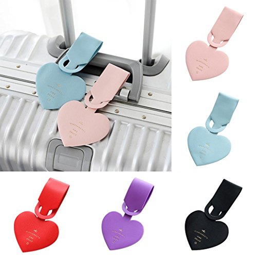 angel3292 Clearance Deals!!Simple Heart-Shaped Luggage Tags PVC Passport Label Straps Travel Accessories by angel3292 (Image #1)