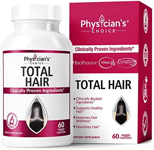 Hair Growth Vitamins (Clinically Proven Ingredients) Award Winning Keratin, Biotin and More, Proven Hair Vitamins for Faster Healthier Hair Growth - Hair Loss & Thinning Supplement for Women & Men