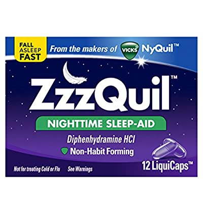 ZzzQuil Nighttime Sleep Aid, 12 Liquicaps