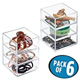 Best MetroDecor Bathroom Vanities - mDesign Hair Accessory Stacking Cube Organizers for Bathroom Review