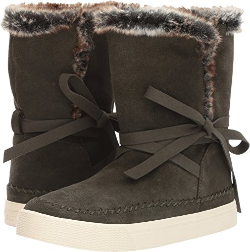 Toms Women's Vista Suede Boot, Size: 6 B(M) US, Color: Forest Wp Suede/Fur (Boots Toms For Women)
