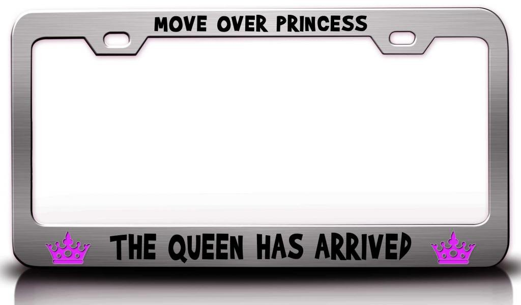 Amazon.com: MOVE OVER PRINCESS THE QUEEN HAS ARRIVED Princess Girly ...