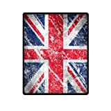 Vintage United Kingdom Union Jack Flag British Flag Printed Blanket Sumptuously Plush Lap Warmer Winter Blankets Throw Bedspread 40