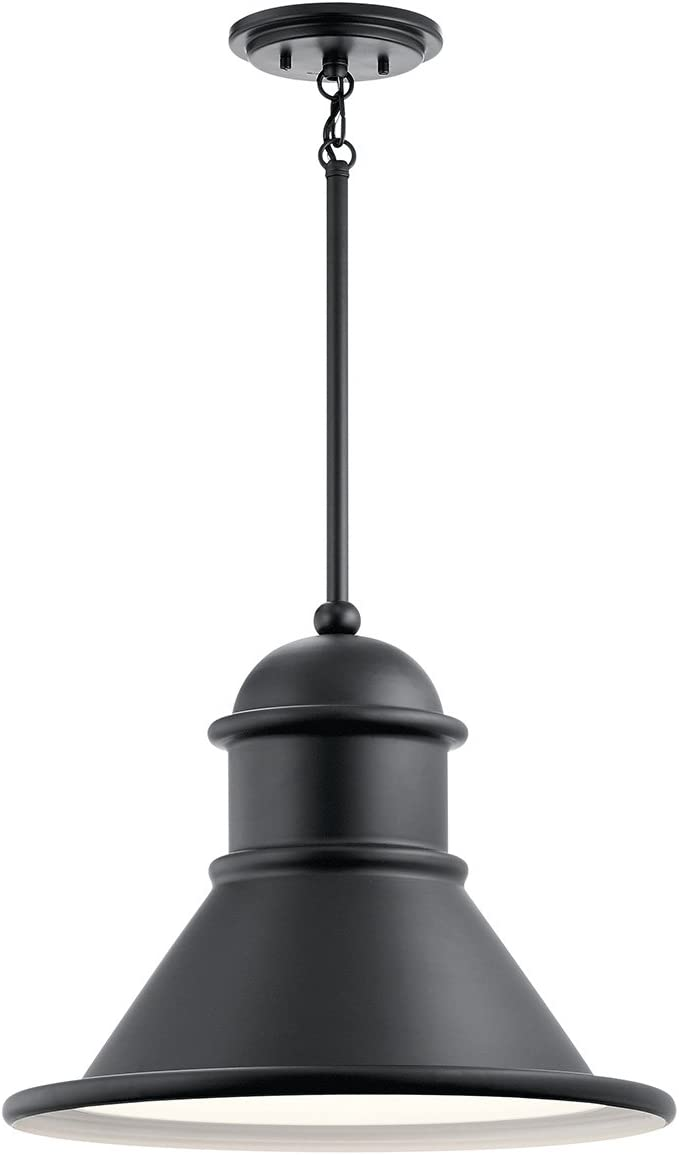 Textured Black Kichler Lighting 49847BKT Admirals Cove Outdoor Wall Light