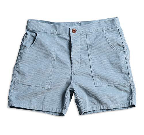Birdwell Men's Classic Corduroy Shorts (Light Blue, 35)