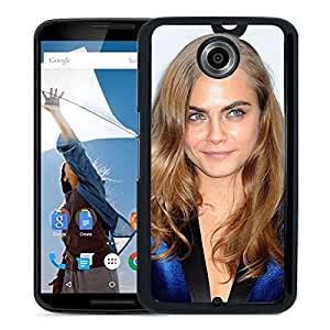 Beautiful Girl Cover Case For Google Nexus 6 With Cara Delevingne Girl Mobile Wallpaper(16) Phone Case